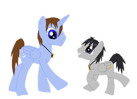 Seto And Mokuba Kaiba MLP Style by fuzzylittlekitty