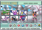 My Sinnoh trainer card!  Pokemon Platinum! by Espeon804