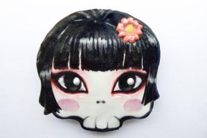 halloween chocolate cookie skull chinese girl by ALI-MALBICHO