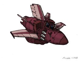 Red Space Fighter by deathbstrd