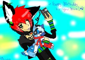 Happy Birfday Blue by firefox099