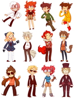 Original Character Stickers by nNkComicRelief