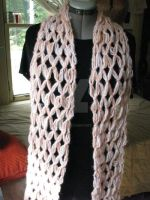 Crocheted Mesh Scarf by sarlaz