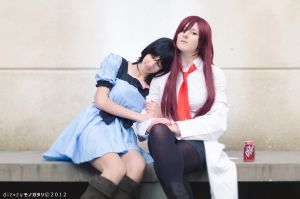 Kurisu and Mayushi - SteinsGate by GloomyElls