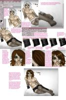 tutorial- nylons, vinyl, hair by Napoleon-chan