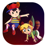 SSB4- Ness and Toon Link by GAYSONICFAN123
