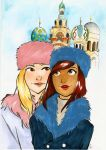 Russian Winter Maddie and London by SonicPossible00