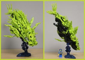 Bionicle MOC: Diablo Lionfish by Rahiden