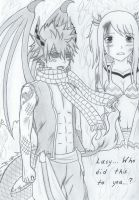 Who did this to you? - Nalu by alicemay18