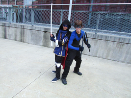 Lucina and Nightwing -Montreal Mini Comic Con 2015 by J25TheArcKing