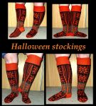 Halloween stockings, Selbudeath by KnitLizzy