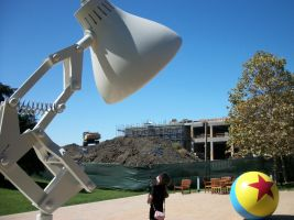 Pixar's Luxo Jr. lamp and ball by Dogman15