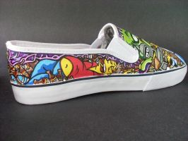 Futurama The Simpsons crossover shoes - Barney by rachelliles352