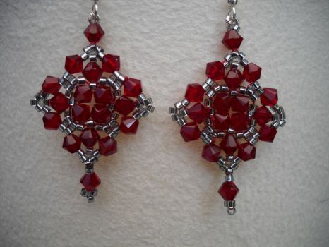 Crystal earrings by Autumn-beads