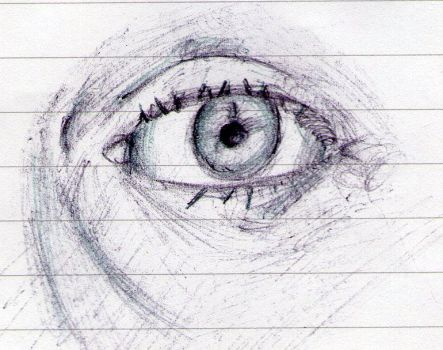 Eye sketch 1 by HellyMr