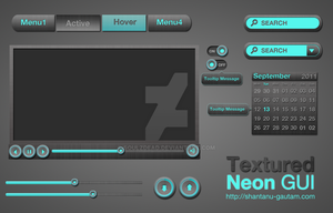 Textured Neon Gui by soulzdead