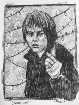 Stranger Things: Jonathan Warm Up Sketch by Biodin
