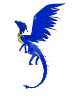 Saphira transparent by CommieCrow