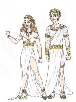 69th Hunger Games: District 1 Chariot Costumes by 13foxywolf666