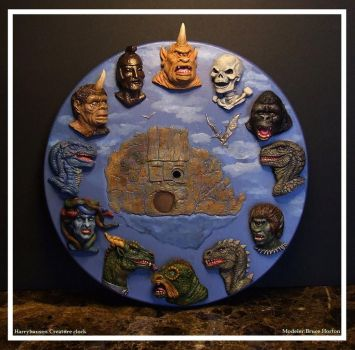 RAY HARRYHAUSEN CREATURE CLOCK by artdawg1x