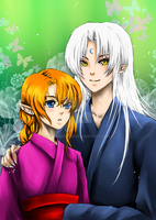 Sesshomaru and Kaida by shrimpHEBY