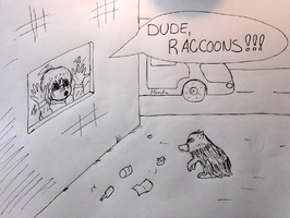 Thou Hast Befriended Raccoons by Javott