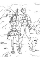 Lara and Nate in the Jungle by jmaturino