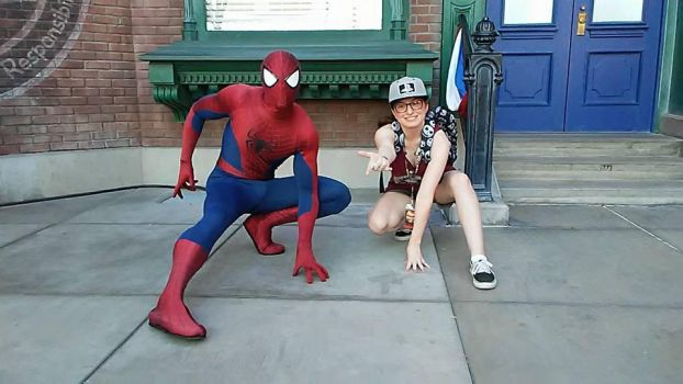 Hanging with Spider-Man by sonicshadowlover13