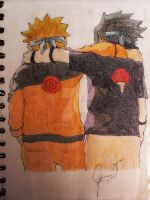 Best friends: Naruto and Sasuke by andy204