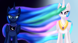 Sun And Moon by WolfyOmega