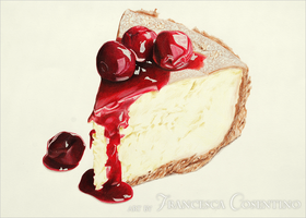 Dessert with cherries and red sauce by 19Frency94-Art