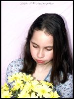 Kayla and the yellow flowers 2 by moonduster