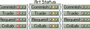 Stoplights Status Buttons by stuck-in-suburbia