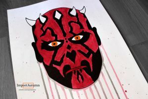 Drawing Darth Maul! [Speed-painting] by ImportAutumn