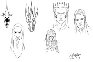 Lotr The Hobbit sketches by DennisB-Art