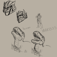 Beast Wars Doodles by ConstantM0tion