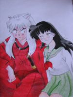 Inuyasha and Kaede by TheGaboefects