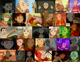 Aang collage by JackieStarSister