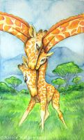 Family of Giraffes - Commission by Nicole-Marie-Walker