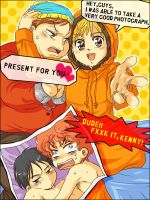 SP : Kenny+Eric and Kyle+Stan by karaage98