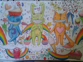 Critters and candy by neenerLou