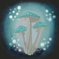 Cave Mushroom by Titanqueen