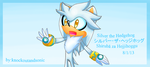 Silver the Hedgehog by knockoutandsonic