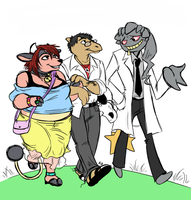 Bethany, Bud and Rod. by ReikoValour
