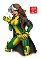 Rogue colored by Hiroki8