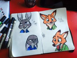 Judy and Nick - Zootopia by kofee-cup