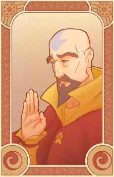 Tenzin - Legend of Korra by swadeart