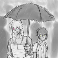 Rainy Stroll by ChocolateMilkLOL
