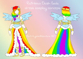 Rainbow Dash Gala dress cosplay concept by Mari-Kyomo