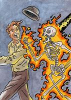War of the Worlds Sketch Card (6) by GeekyWhiteGuy